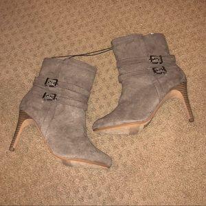 NWT Express brown bootie heels